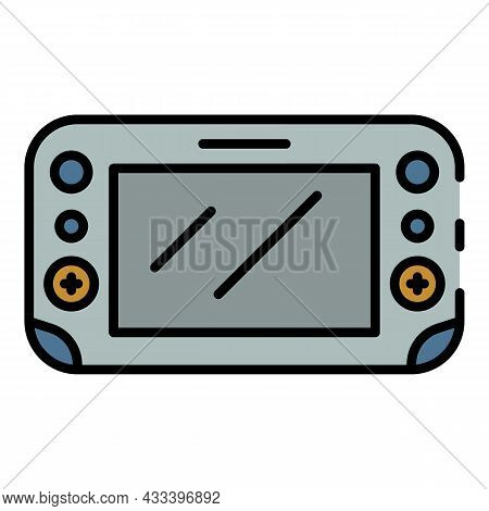 Display Gamepad Icon. Outline Display Gamepad Vector Icon Color Flat Isolated