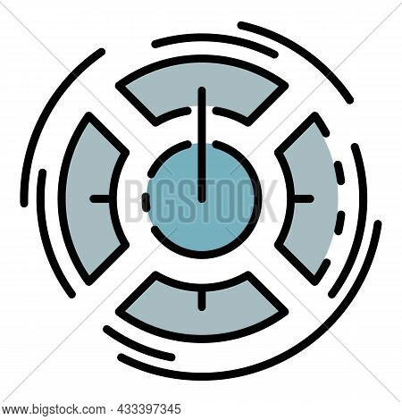 Turn On Learning Icon. Outline Turn On Learning Vector Icon Color Flat Isolated