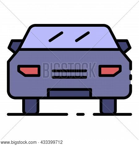 Front Car Side Icon. Outline Front Car Side Vector Icon Color Flat Isolated