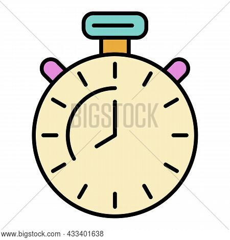 Boxing Stopwatch Icon. Outline Boxing Stopwatch Vector Icon Color Flat Isolated