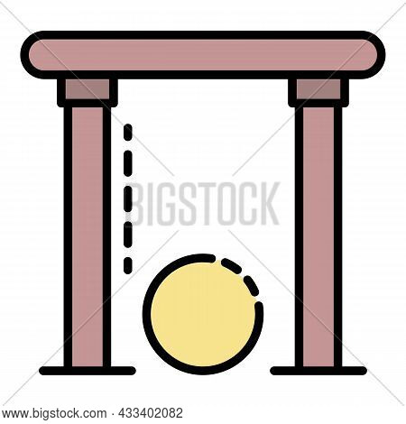 Croquet Gate Icon. Outline Croquet Gate Vector Icon Color Flat Isolated