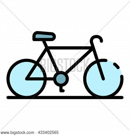 Sport Cycling Bike Icon. Outline Sport Cycling Bike Vector Icon Color Flat Isolated