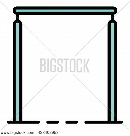 Gymnastic Bars Icon. Outline Gymnastic Bars Vector Icon Color Flat Isolated