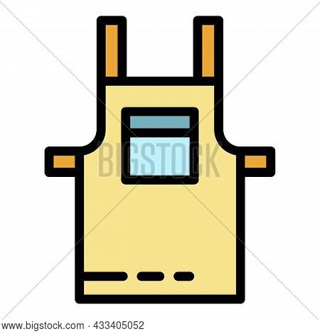 Coffee Maker Apron Icon. Outline Coffee Maker Apron Vector Icon Color Flat Isolated
