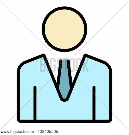 Company Boss Icon. Outline Company Boss Vector Icon Color Flat Isolated