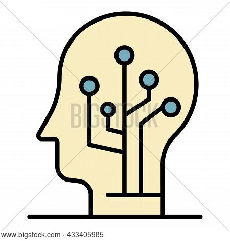 Artificial Learning Icon. Outline Artificial Learning Vector Icon Color Flat Isolated
