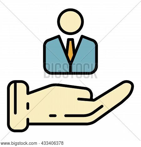 Care Corporate Personal Icon. Outline Care Corporate Personal Vector Icon Color Flat Isolated