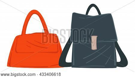 Bag With Straps And Handles, Women Fashion Style