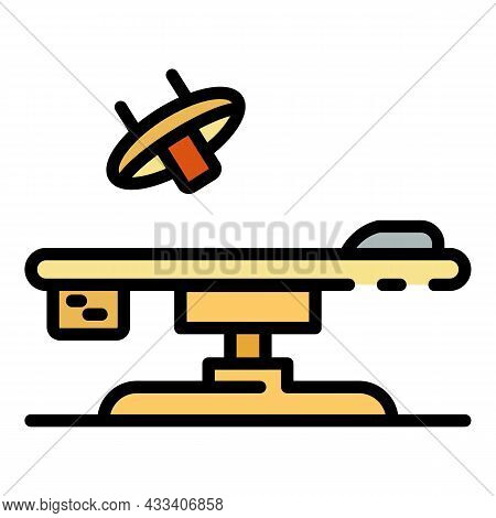 Operating Table Icon. Outline Operating Table Vector Icon Color Flat Isolated