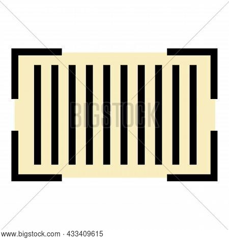 Barcode Scan Icon. Outline Barcode Scan Vector Icon Color Flat Isolated