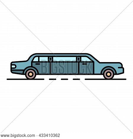 Luxury Limousine Icon. Outline Luxury Limousine Vector Icon Color Flat Isolated
