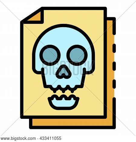 Infected Files Icon. Outline Infected Files Vector Icon Color Flat Isolated