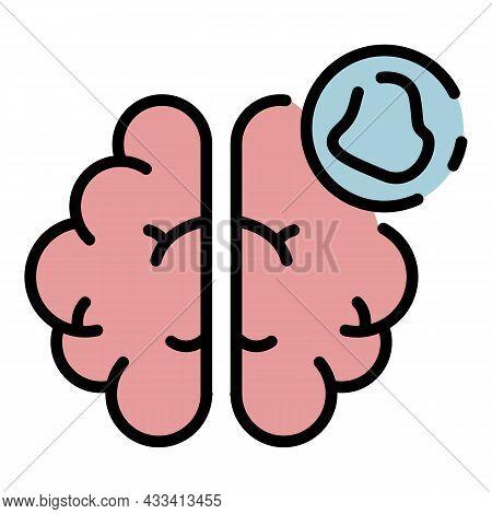 Brain Amnesia Icon. Outline Brain Amnesia Vector Icon Color Flat Isolated