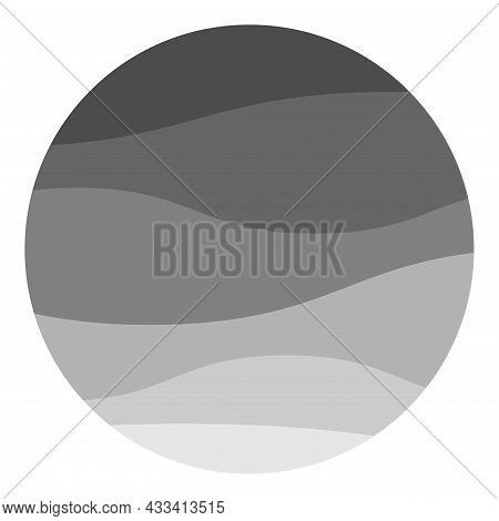 Black Zigzag Wave Line Flat Vector Illustration. Aque Graphic, Abstract Background. Modern Flat Desi