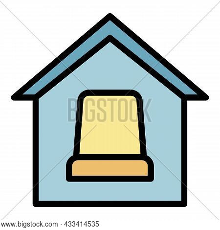 Smart Home Comfort Icon. Outline Smart Home Comfort Vector Icon Color Flat Isolated