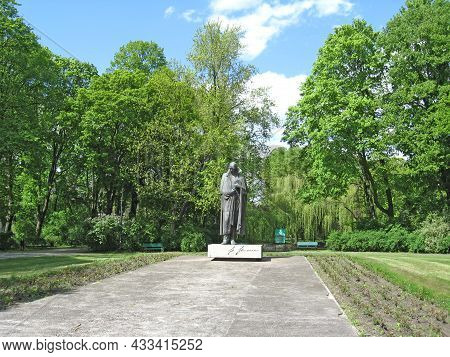 Lodz - Poland. 22 July 2019: Monument To Famous Polish Priest, Philosopher, Geologist, Writer, Poet,