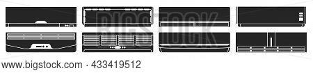 Air Conditioner Black Set Icon.vector Illustration Illustration Condition On White Background .black