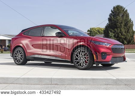 Kokomo - Circa September 2021: Ford Mustang Mach-e Suv Display. The Mustang Mach-e Is Ford's First A
