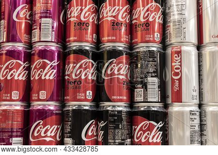 Cincinnati - Circa September 2021: Coca Cola Display. Coke Products Are Among The Best Selling Soda