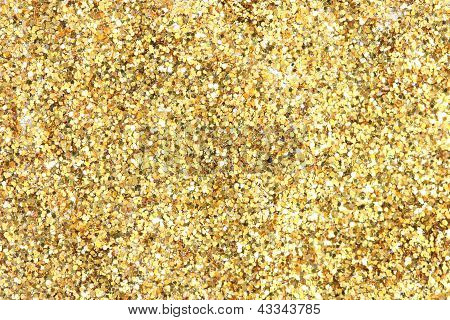 Many festive golden decoration pieces background
