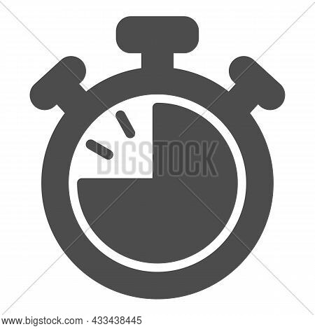 Stopwatch With Buttons, 45 Seconds, Timer, Chronometer Solid Icon, Time Concept, Clock Vector Sign O