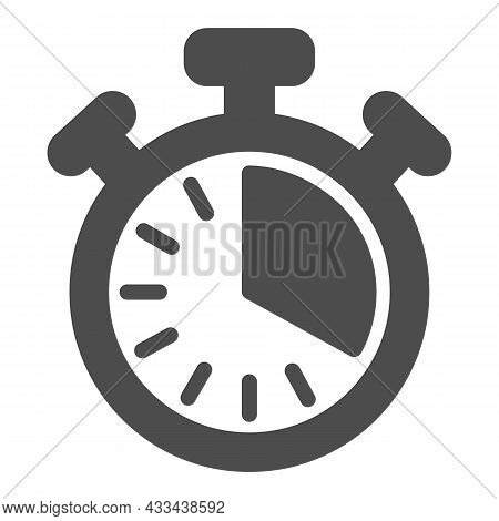 Stopwatch With Buttons, 20 Seconds, Timer, Chronometer Solid Icon, Time Concept, Clock Vector Sign O