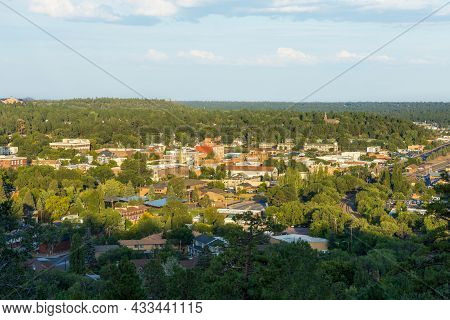 Aerial View Over Flagstaff,  Arizona, From The City Overlook Near Lower Observatory