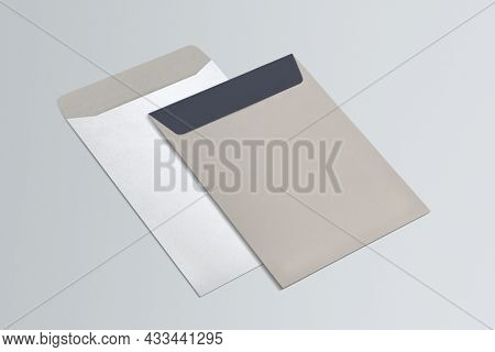 Envelopes stationery set with copy space