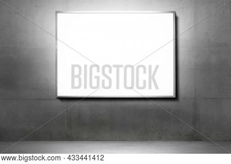 Billboard with copy space in chromatic color