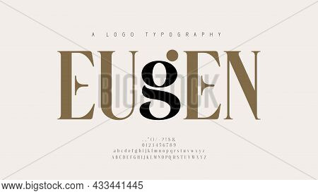 Elegant Alphabet Letters Font And Number. Classic Lettering Minimal Fashion Designs. Typography Mode
