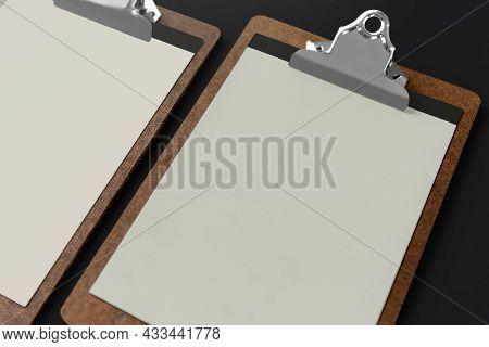 Blank paper on clipboard corporate identity design