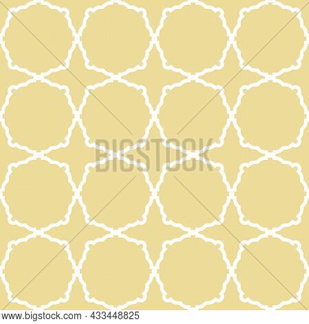 Geometric Abstract Vector Octagonal Background. Geometric Abstract Yellow, And White Ornament. Seaml