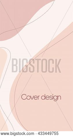 Abstract Vector Modern Stories Background With Spots. Geometric Illustration Background. Hand Drawn