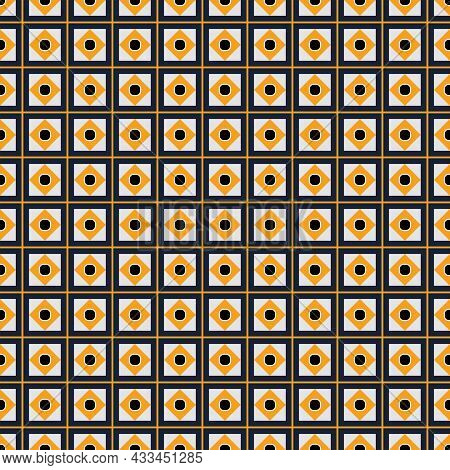 Seamless Abstract Pattern Made From Squares. Pattern In Moroccan Style