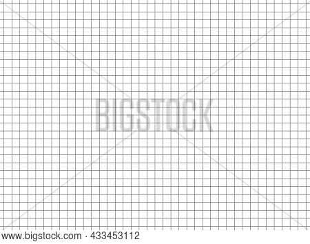 Grid Pattern. Seamless Line Pattern For Copybook. Square Graph Of Texture For Mathematics, Architect