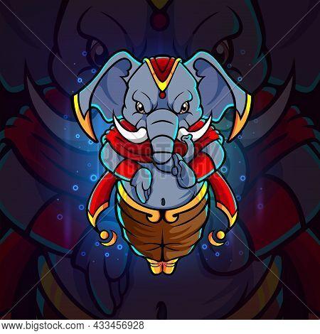 The Fighter Elephant Esport Mascot Design Of Illustration