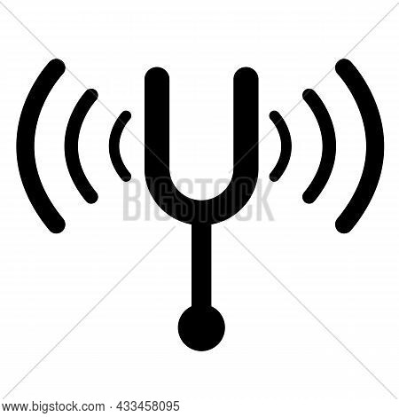 Tuning Fork Icon On White Background. Standard Of The Musical World Sign. Musical Symbol. Flat Style