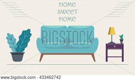 Home Sweet Home - Vector Illustration In Flat Design