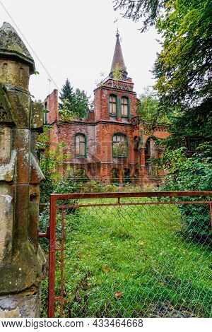 View Of The Ruins Of The Sanatorium And Health Spa In Sokolowsko