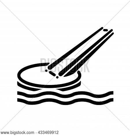 Marine Evacuation Slide Black Icon ,vector Illustration, Isolate On White Background Label. Eps10