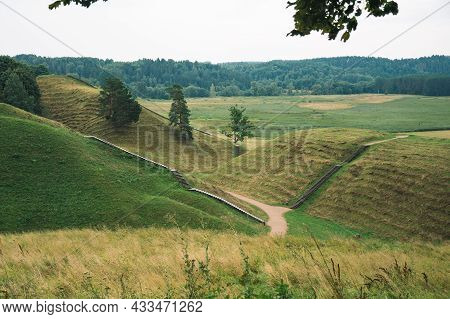 Hills Of Kernave, Lithuania, Unesco World Heritage, Was A Medieval Capital Of The Grand Duchy Of Lit