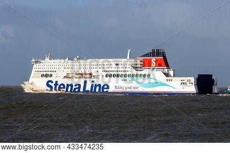 Stena Line Ferry Leaving The Port Of Rotterdam To The United Kingdom. Rotterdam, January 13, 2012.