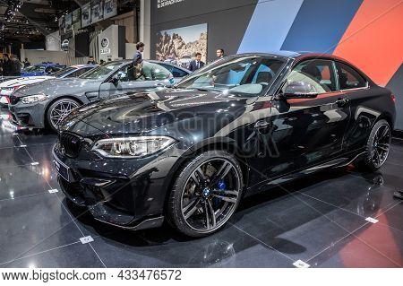 Bmw M2 Coupe Car Showcased At The Brussels Expo Autosalon Motor Show. Belgium - January 19, 2017