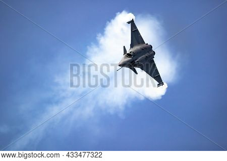 French Air Force Dassault Rafale Performing At The Paris Air Show, France - June 22, 2017