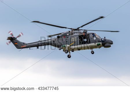 German Navy Westland Lynx Marine Helicopter Flying From Nordholz Naval Base. Germany - June 14, 2019