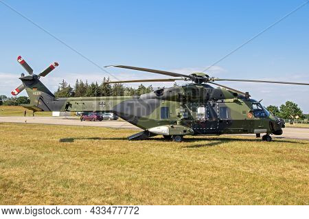 German Army Nh90 Transport Helicopter At Nordholz Naval Base. Germany - June 14, 2019