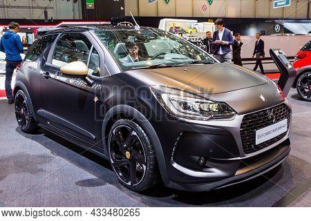 Citroen Ds3 Cabrio Performance Car Showcased At The Geneva International Motor Show. Switzerland - M