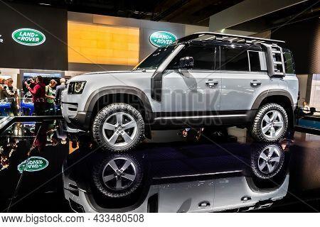 Land Rover Defender Car Showcased At The Frankfurt Iaa Motor Show. Germany - September 10, 2019