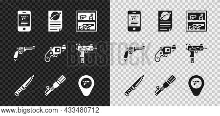 Set Shop Weapon In Mobile App, Firearms License Certificate, Hunting Shop, Military Knife, Anti-tank