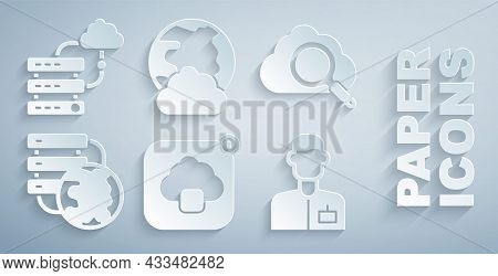 Set Cloud Technology Data Transfer, Search Cloud Computing, Network Connection, Analyst Engineer, So